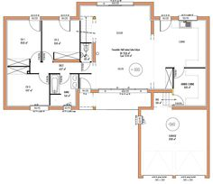 plan maison 4 chambres en l
