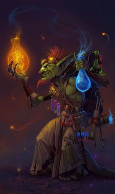 Goblin Alchemist, Helen Blizzard on ArtStation at https://www.artstation.com/artwork/DOXl0?utm_campaign=notify&utm_medium=email&utm_source=notifications_mailer