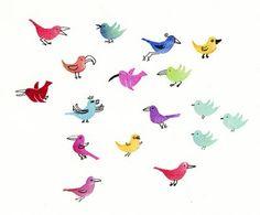 a Stamp a Day: many birds