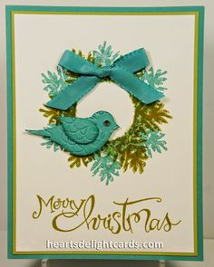 wreath bird - Heart's Delight Cards