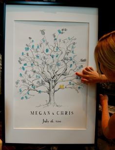 Lovely idea for a guestbook which will be a piece of art after the wedding!