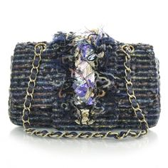 This Is An Authentic Chanel Tweed Sequins Small Flap Stylish Bag Created