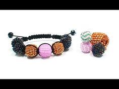 Tutorial: beaded beads for bracelet shamballa / Оплетение бусины бисером