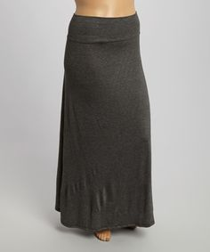 Love this Charcoal Maxi Skirt - Plus on #zulily! #zulilyfinds