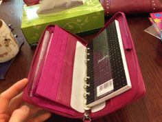 So, I bought a Filofax Compact Pennybridge in Raspberry...