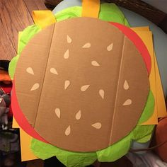 Look at this Gene Belcher hamburger costume idea for Halloween. So adorable and crafty. @berkleigh