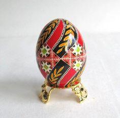 Red egg, Pysanka, batik style Easter Egg, Ukrainian eggs pysanky. $29.95, via Etsy.