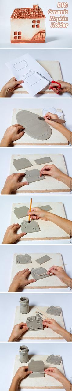 DIY: Ceramic Napkin Holder. See more: http://www.livemaster.ru/topic/694303…