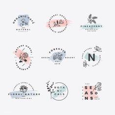 Floral botanical frame collection Free V. Logo Branding, Branding Design, Graphic Design Logos, Brand Logo Design, Bakery Logo Design, Branding Ideas, Best Logo Design, Logo Abstrait, Logo Fleur