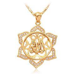 u7® ilamic allah hanger charme 18k vergulde wa rhinetone ketting religiou mulim sieraden - EUR € 9.99