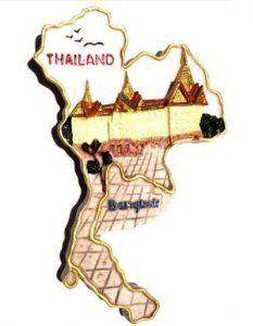 the grand palace of thailand souvenir 3d high quality resin 3d fridge thai magnet hand