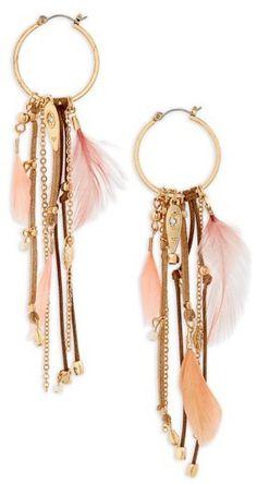Women's Topshop Feather Drop Earrings