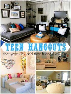 Ten Teen Hangout Areas Your Kids (and their friends) Will Love via Remodelaholic.com #teens #tweens #hangout #teenspace by danibk