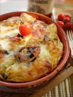 Bucataresele Vesele-retete culinare,retete ilustrate: Cartofi noi cu ciuperci si mozzarella