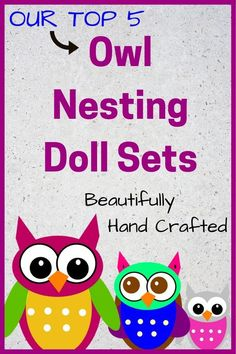 Beautifully hand crafted Owl Nesting Doll Sets for kids and owl lovers. #owlgifts #owldolls #nestingdolls #uniquegifts #owldelights Owl Ornament, Ornaments, Keepsake Baby Gifts, Kids Furniture, Unique Gifts, Handmade Gifts, Owls, Kids Toys, Inspirational Quotes