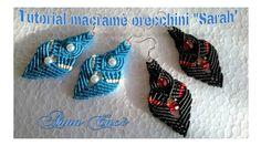 """Tutorial macramè orecchini """"Sarah""""/Tutorial macramé bracelet """"Sarah""""/Diy..."""