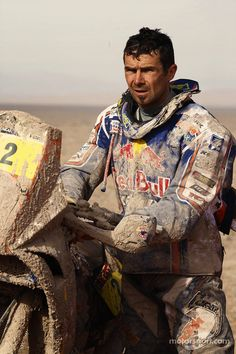 A day at the office - Cyril Despres, Dakar Rally 2013....I want my days to end like this....