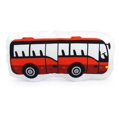 DOPRAVNÍ PROSTŘEDKY / autobus červený / polštářek