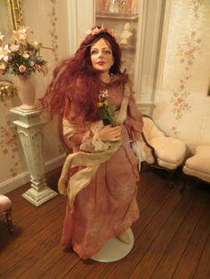Dollhouse Miniature Artisan Marcia Backstrom Beautiful Ophelia Sculpted Doll | eBay