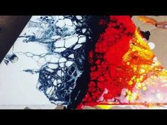 How to create cells with no additives - Fluid Painting Tutorial  - Luna Creations - YouTube