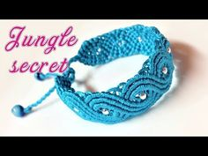 Macrame tutorial: The Jungle secret bracelet - Beautiful and elegant macrame project - YouTube