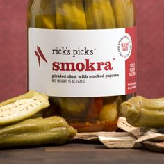 "Rick's Picks - ""Smokra"" Pickled okra with smoked paprika"