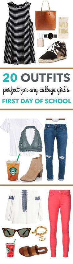 20 First Day Of School Outfit Ideas For College Girls #backtoschool