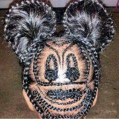 Mickey Mouse hair style, braids https://www.facebook.com/photo.php?fbid=645254268830330&set=a.404530229569403.92227.403001499722276&type=1