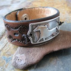 Flight Without Wings Horse Jewelry Artisan PMC by SilverWishes, $88.00