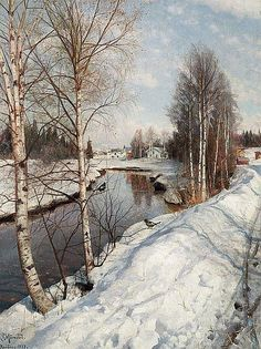 Peder Mønsted: A bright day with thaw at Hundselve