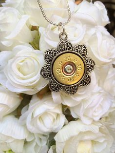 Flower Filigree Metal Shell Casing / bullet by StampedByStephanie, $24.00