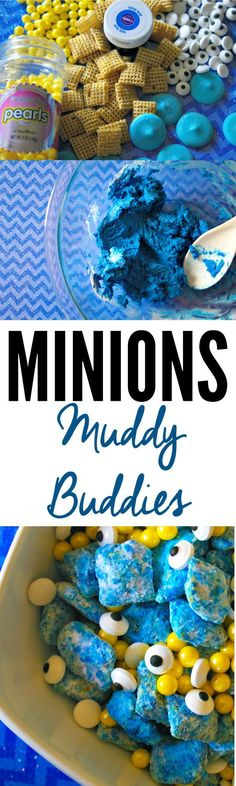 To celebrate the Minions, we were inspired to create these Minions Muddy Buddies recipe for the occasion. Muddy Buddies are fun to make and are delicious. Kids will enjoy this delicious treat as a snack. This Minions Muddy Buddies would also be great if you are having a Minions themed party too!