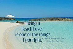 Yes!  I am absolutely a BEACH LOVER!