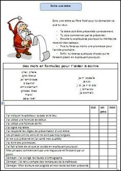 Santa letter writing idea here - vocab to support kids in writing the text + checklist they can complete to show they have all essential elements.