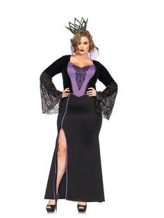 Evil Dark Queen Adult Womens Plus Size Costume - 346956