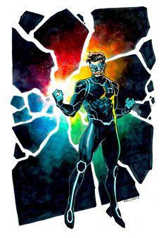 [Artwork] The Omega Lantern by Dike Ruan Green Lantern Corps, Green Lanterns, Arte Dc Comics, Batman Comics, Comic Character, Character Design, Kyle Rayner, Nerd, Dc Comics Characters