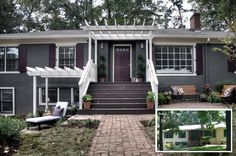 Featured on #HGTV's Curb Appeal: The Block. Ranch Renovation by Renewal Design-Build, Atlanta, GA
