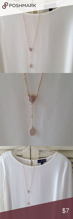 """NEW Mauve Gray Y drop elegant Necklace $39 This beautiful necklace is brand New from a local boutique. Color looks between purple mauve and gray. Gold lobster clasp. Necklace measures approx. 14.5"""" in length. NEW $39 boutique Jewelry Necklaces"""