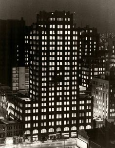 The Toronto Star Building at night, 80 King St. Photo by Norman James. - Courtesy of the Toronto Public Library & the Toronto Star Archives. Toronto Architecture, Toronto Star, Landscape Photos, My Images, Norman, Skyscraper, Past, Public, Real Estate