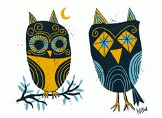 Flat felt story ideas -- Owls by Nate Williams Animal Art, Feather Art, Illustration, Retro Illustration, Gorgeous Art, Owl Illustration, Naive Illustration, Art Licensing, Art