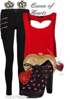 """""""Queen of Hearts"""" by polyspolyvore ❤ liked on Polyvore"""