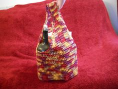 Crocheted Bag Market Bag  reusable 100 acrylic by CustomBearHugs, $32.00  #crochetedbag