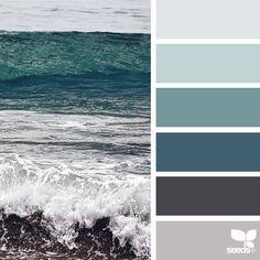 27 Ideas for painting ideas ocean design seeds Palette Design, Color Schemes Design, Paint Color Schemes, Living Room Color Schemes, Living Room Colors, Paint Colors, Bedroom Colors, Bedroom Art, Design Seeds