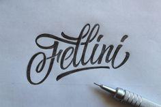 Fellini by Евгений Тутов, via Behance
