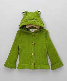 Take a look at this Green Frog Sweater - Infant & Toddler by Toto Knits on today! 3rd Baby, Baby Boy, Animal Sweater, Cute Jumpers, Knitting Daily, Frog Crafts, Fashion Sale, Fashion Ideas, Green Frog