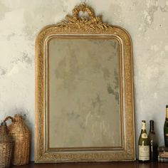 One of a Kind Vintage Mirror Louis Philippe Dusty Blonde via @LaylaGrayce #laylagrayce #vintage #oneofakinds