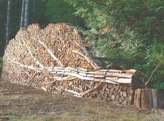 This stack of firewood would look so nice outside a log home in the mountains!