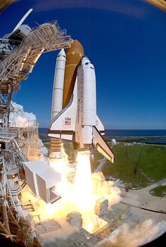 Atlantis lifts off, the 66th space shuttle flight. Payload includes the Atmospheric Laboratory for Application and Science (ATLAS-3) and the German constructed Cryogenic Infrared Spectrometers and Telescopes for the Atmosphere Shuttle Pallet Satellite (CRISTA-SPAS).