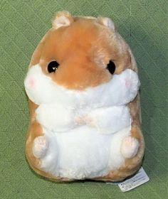 "Amuse Coroham Coron 12"" HAMSTER Tan White Japan Kawaii Plush Stuffed NEW w/ TAGS"