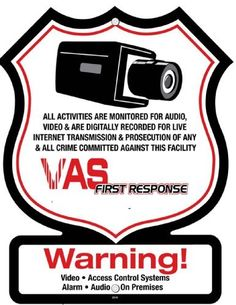 4 Pk Security Decals VAS 21ST CENTURY SECURITY SURVEILLANCE ALARM WARNING DECALS by SIS E-Store. $9.25. These are commercial grade decals manufactured for us by Americas Leading Security Sign Manufacturer. They will enhance and increase the deterrence factor of your security, whether you have a system or not.